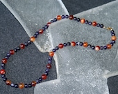 Amethyst and Carnelian Bead Necklace