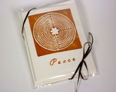 Hand Stamped Chartres Labyrinth Greeting Cards - Set of 4