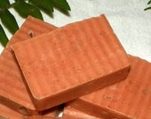 Frankincense Tea Tree Oil Cold Process Soap with Red Moroccan Clay -  Acne - Oily Skin