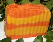 Tropical Mango Papaya Cold Process Soap with Shea Butter and Avocado Oil