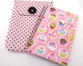 Polka Dot Cupcake Pouch and Journal