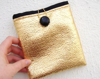 Silver Pouch, Metallic Pouch, Pouch, Handmade Pouch