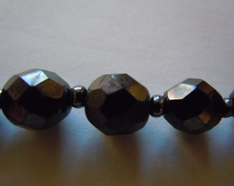 Black French Jet Necklace Vintage Jewelry Collectible