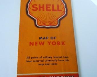 New York Shell Map 1940