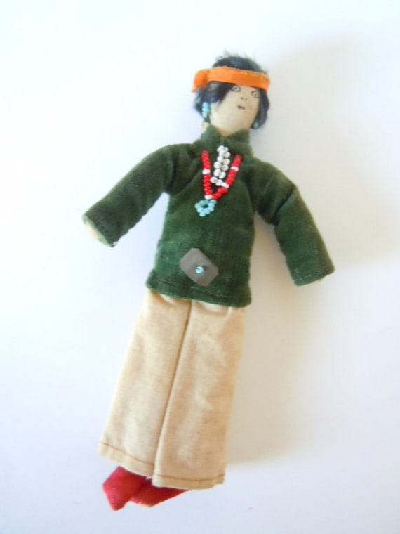 Vintage Navajo Doll Souvenir Handmade