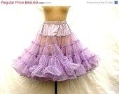SALE Vintage Crinoline Petticoat - Fabulous and Frothy in Lavender
