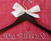Personalized Custom Bridal Hanger, Brides Hanger, Bride, Name Hanger, Wedding Hanger, Personalized Bridal Gift