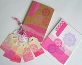 Pink doiley stationery pack