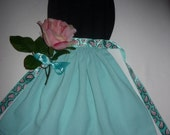 Reserved - Lovely Pink Rose Apron