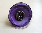 Purple and Grey Satin Ring - Money For Orphans.