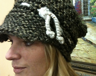 PATTERN Slouchy Newsboy Hat with Short Brim Visor ADULT