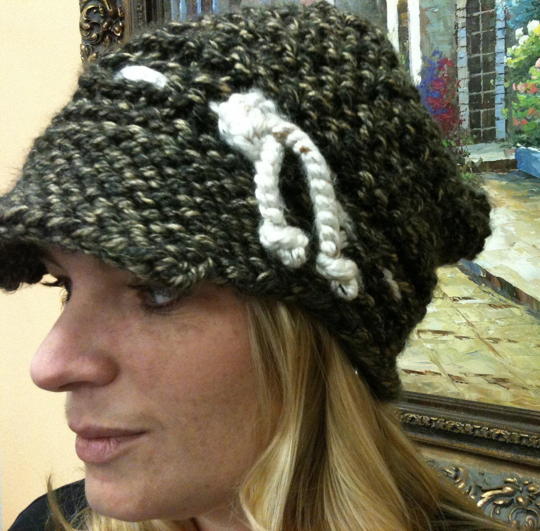 Loom knit newsboy pattern slouchy newsboy hat non slouchy zoom bankloansurffo Gallery