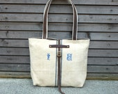 recycled antique linen  tote bag COLLECTION WOMEN