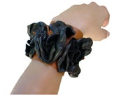 Boho Bracelet Cuff - Leather Flowers Cuff - Black Leather Flower  bracelets - Wide Leather Cuff - Black Tan Hippie Bracelet Cuff