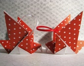 Pair of Origami Dove Christmas Tree Decorations