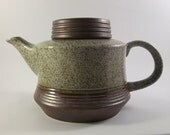 Rare Purbeck Pottery 'Portland' Teapot Retro English Stoneware