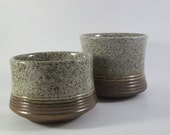Rare Purbeck Pottery 'Portland' Sugar Bowls Retro English Stoneware