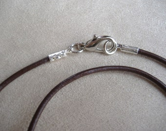 Dark Brown Genuine Leather Cord Necklace