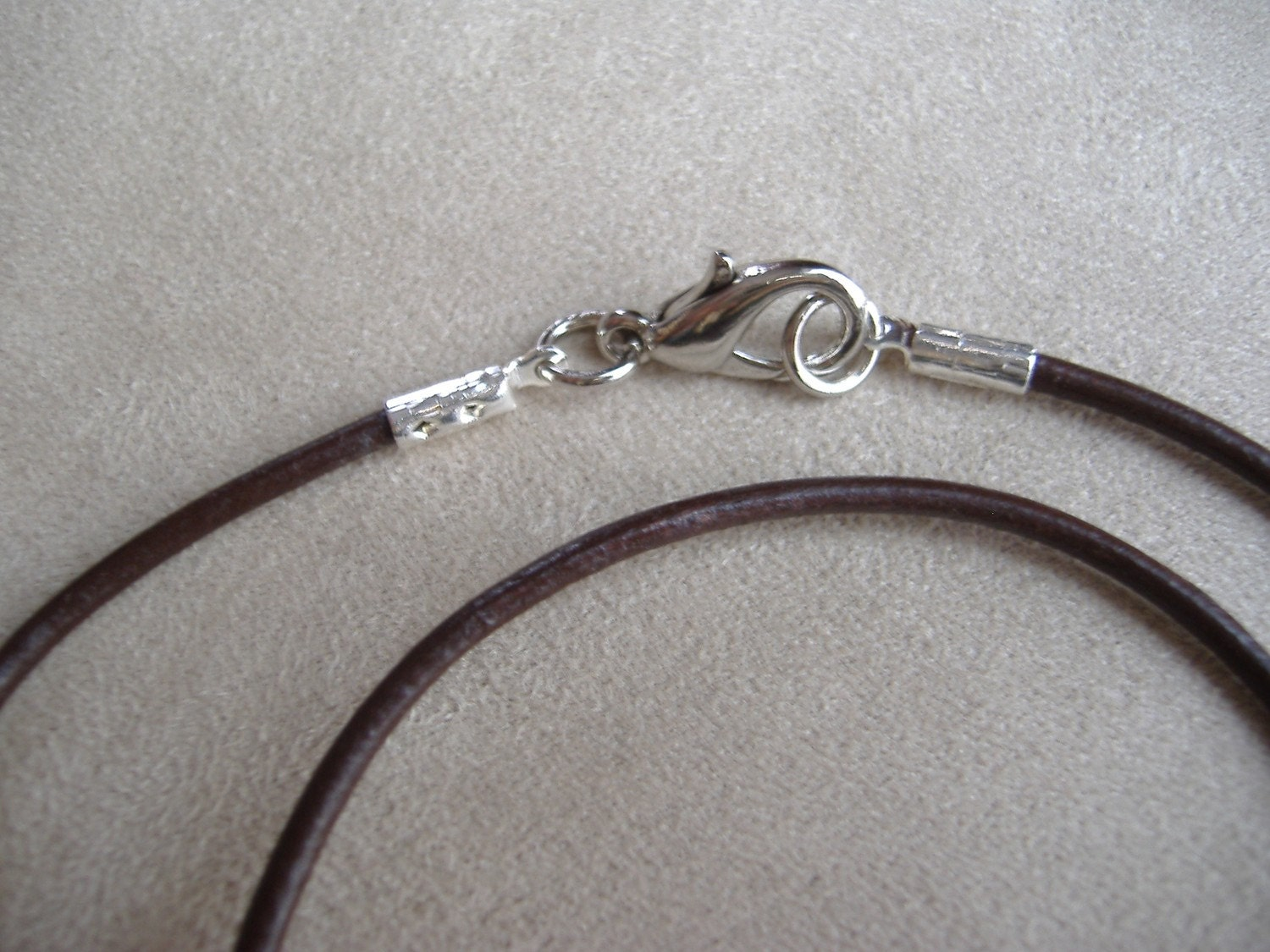 brown genuine leather cord necklace