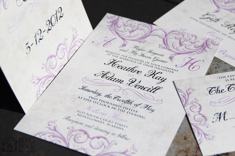 When Do You Order Wedding Invitations: Classic Elegant Vintage Victorian Wedding Invitations
