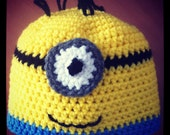 Minion hat lined with fleece