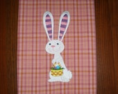 Easter Embroidered Towel - Easter Bunny Whimsy