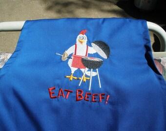 Eat Beef Barbeque Bib Apron