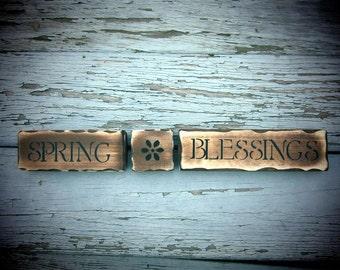 Spring Blessings shelf blocks