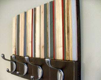 Coat Rack - Reclaimed Wood Coat Hanger - 14x11