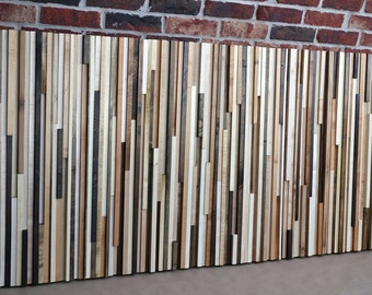 Reclaimed Wood Sculpture King headboard - 36 x 78