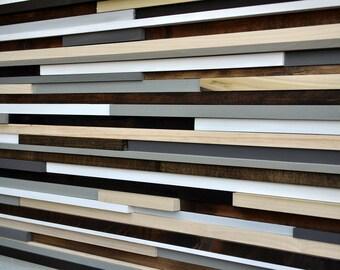 Wood Sculpture Queen Headboard -  Wood Wall Art