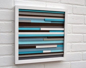 Wood Wall Art - Wood Art - Reclaimed Wood Art - 12x12 - FREE SHIPPING!