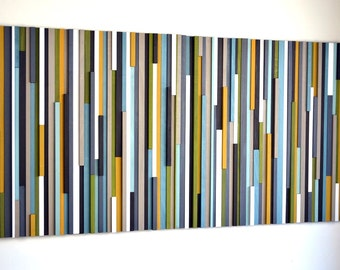Wood Art Sculpture - Lines 36x72