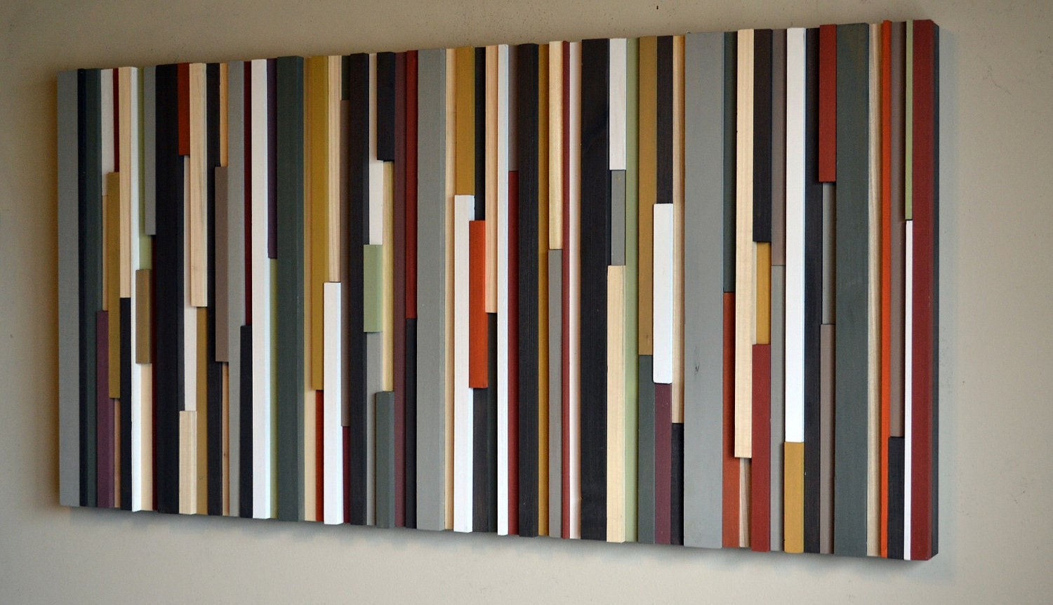 Wood sculpture wall art lines 24 x 48 - Wall arts images ...