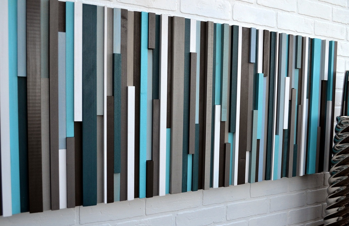 wood wall art reclaimed wood art queen headboard wood sculpture