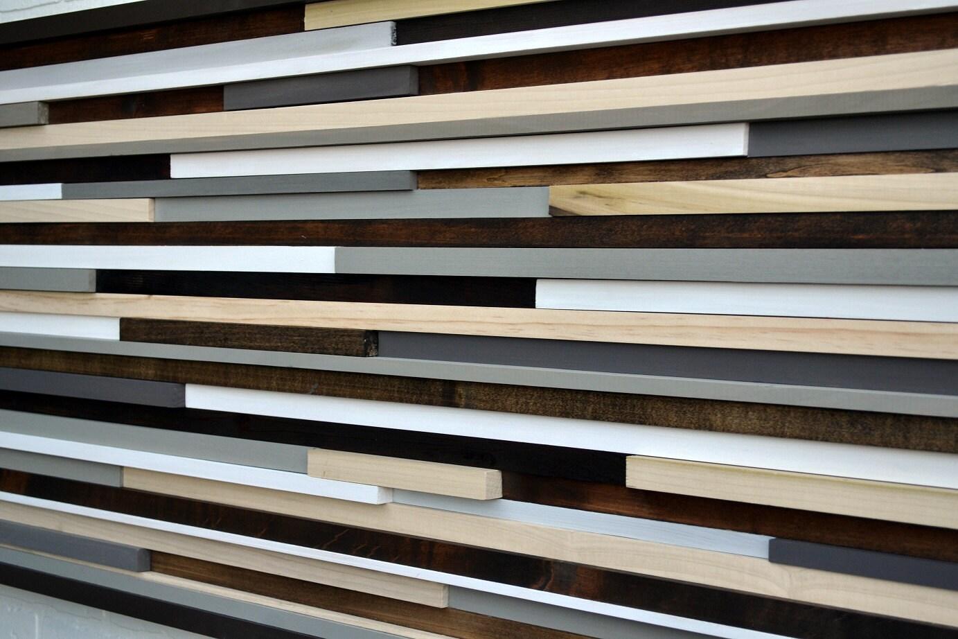 Reclaimed Wood Wall Art Wood Sculpture Queen Headboard Wood Wall Art