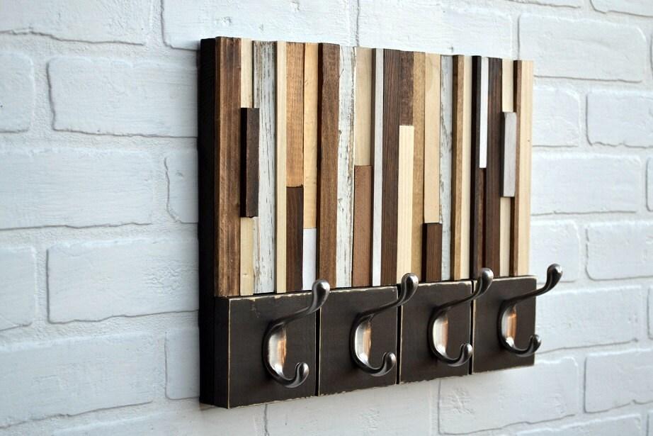 ... Reclaimed wood coat rack. 🔎zoom - Wood Sculpture With Hooks Reclaimed Wood Coat Rack