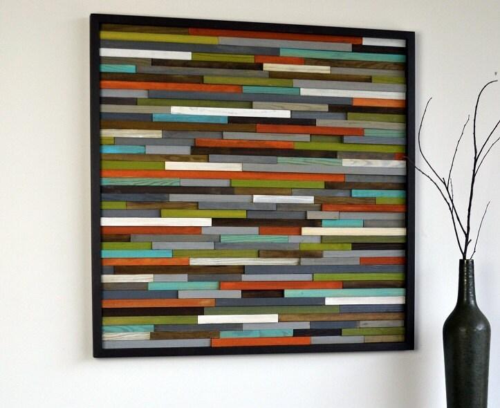 Wood Art Wall wood wall art skinny rectangles reclaimed wood abstract