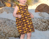 Summer Dress 2-3 years Organic Cotton 70ies inspired print