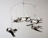 Mobile made from cans, small airpanes