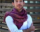 Silk Shawl  Recycled   BURGUNDY accesories R