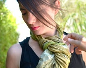 Silk Scarf Recycled accesories Silk Scarves ....Suggestive  and delicate  V