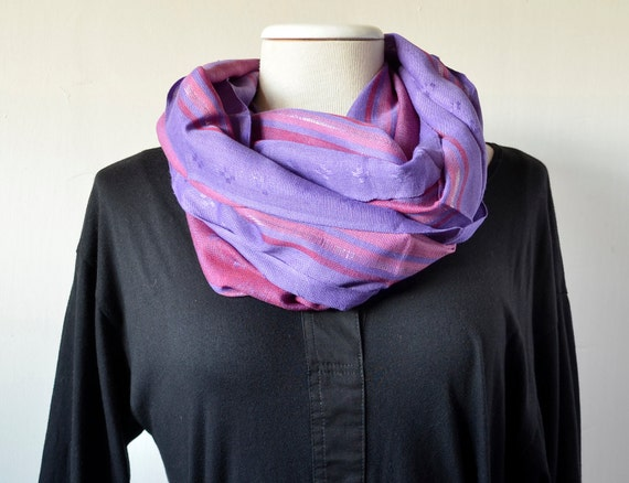 lnfinity  scarf  orchid striped..loop  Scarve ,stripes , soft...Accessories...Eternity...Ideal complement ...VI