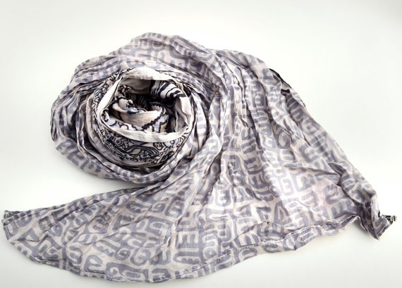 Silk Scarf Recycled wrap accesories  Silk Scarves woman   ideal romantic... gift. G