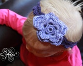 SALE -- Romantic Flower Headband for Toddler Girl -- Ready to Ship