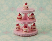 Miniature Dessert Tower Kit: Pink Stripe