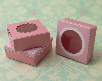 Miniature Dessert Boxes Kit: Pink