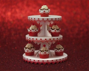 Miniature Dessert Tower and Cupcake Wrappers Kit