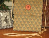 Phone Pouch-Evo Carrier-Messenger-Olive-Gold-Triangle Weave