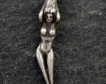 Sterling Silver Earth Goddess Pendant on a Sterling Silver Chain